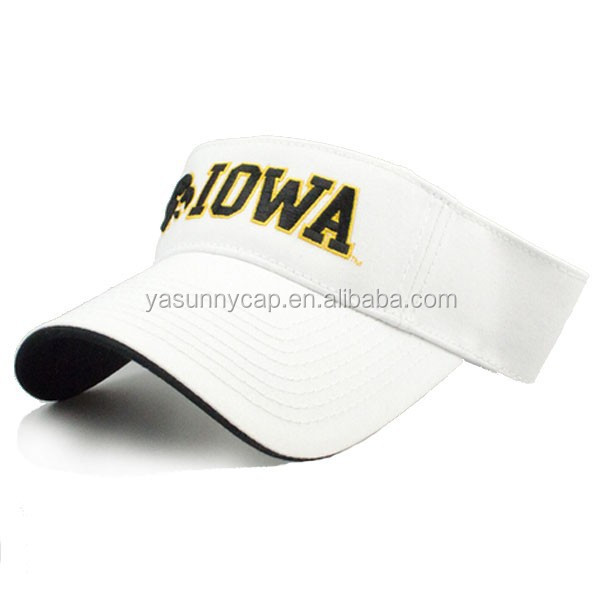 2017 promotion top quality embroidery cheap cotton sun visor hat