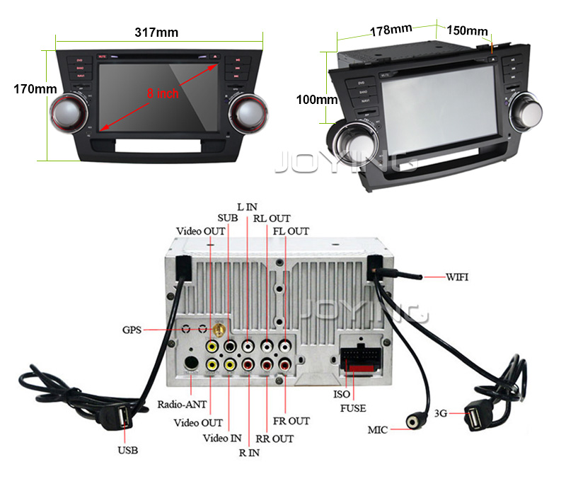 7 inch <strong>Android</strong> 2 Din Car monitor car multimedia system Audio radio car stereo GPS for <strong>Toyota</strong> Highlander