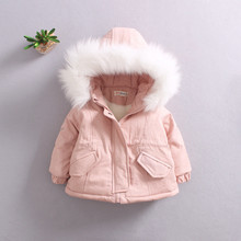 Winter Girls Faux Fur Coat Cotton Thick Jacket Fashion Kids Clothes