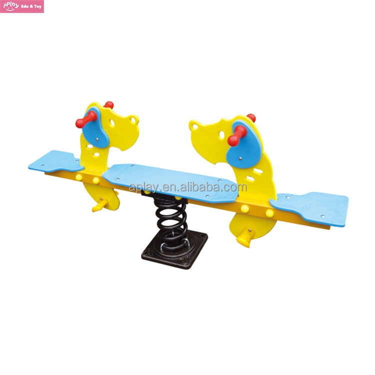 Outdoor Garden seesaw for kids rocking dog animal riding set