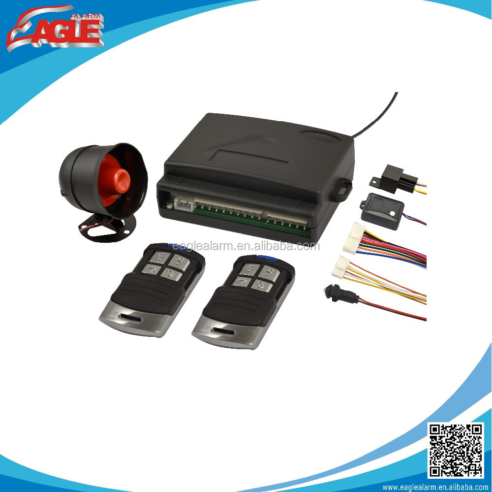 EG-308 one way anti theft auto car alarm hot sale for indonesia