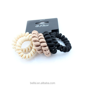 Fashion Cotton Covered Telephone Wire Hair Ties Slinky Hair Head