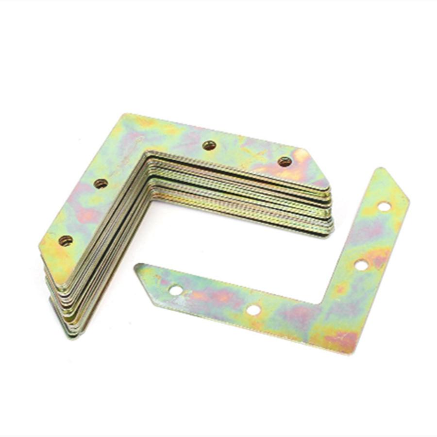 Möbel Hardware Eckverbinder 12 Stücke Winkel Platte Ecke Brace Flache L Form Reparatur Halterung 80x80mm Silber
