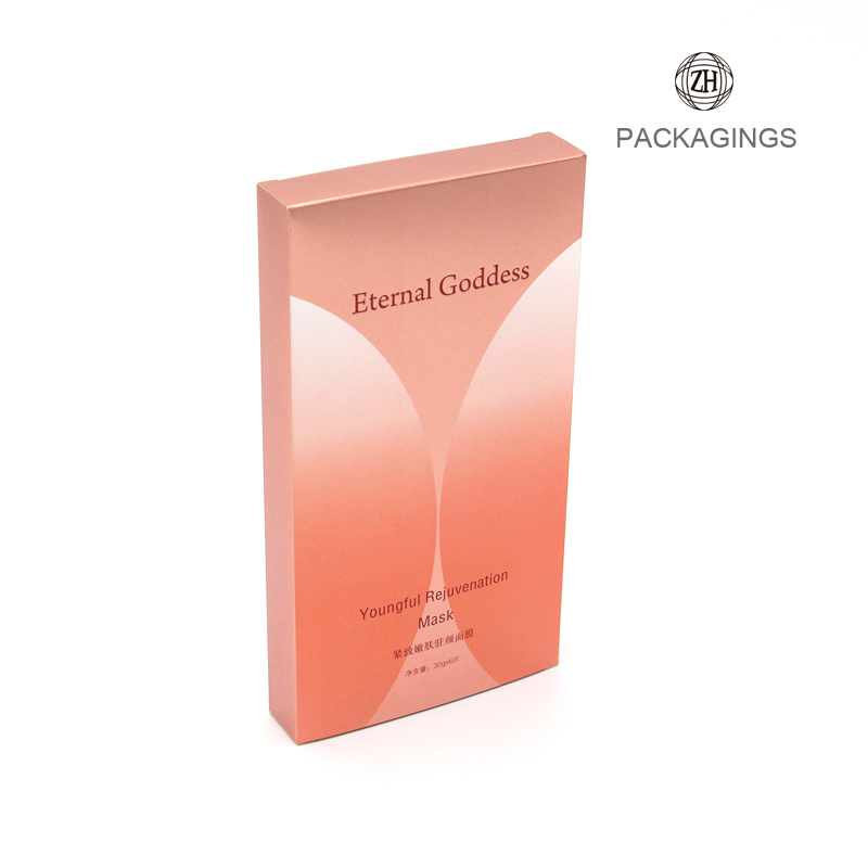 Glossy face mask packaging custom box for men cosmetic