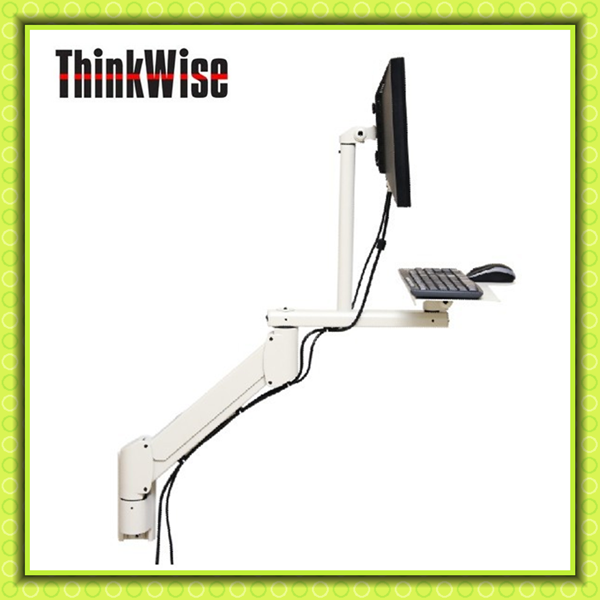 Think Wise G101 Wall mounted industrial computer stand with keyboard tray