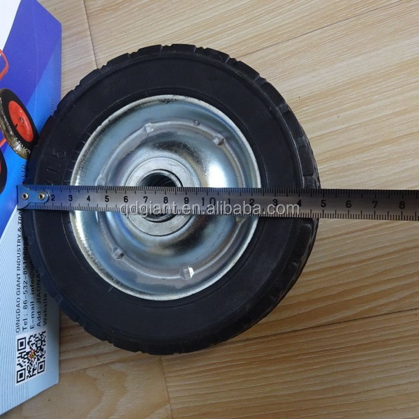 "6"" x 1.5"" Solid Rubber wheel for kids wagon / baby trolley cart"