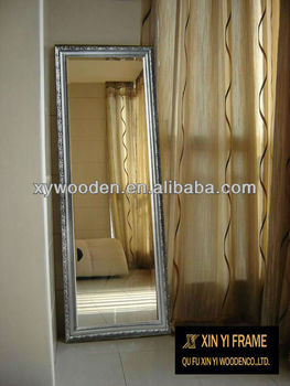 european style solid wood frame dressing mirrorfull length mirror hanging mirror used in - Wood Frame Full Length Mirror