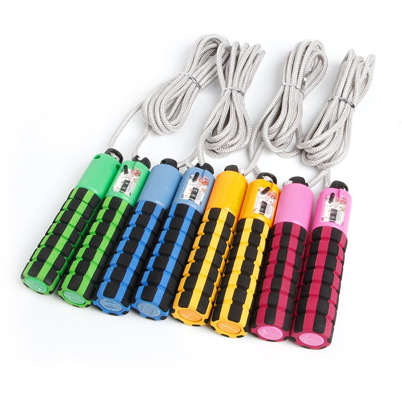 Factory price Adjustable Jump Rope with Counter Exercise& Fitness Workout Gym Jumping Skip Skipping Rope for Kids Children