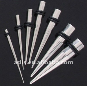 Stainless Steel gauge spike Ear taper and plug ear piercing jewelry