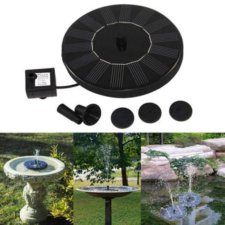 Solar Fountain Pump Bird Bath,NXDA Floating Outdoor Solar Powered Bird Bath Water Fountain Pump Kit For Pool, Garden, Aquarium (Black)