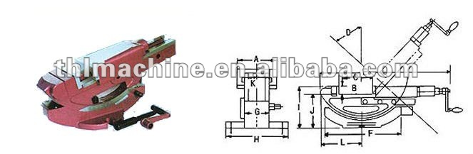Tilting Hydraulic Machine vice