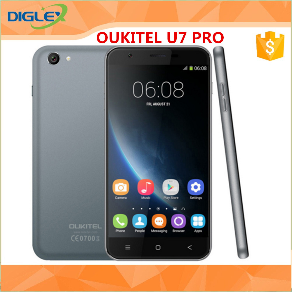 Hot sale Smart Phone Oukitel U7 Pro MTK6580 5.5 Inch 1280x720 HD IPS Quad Core Android 5.1 Mobile Cell Phone