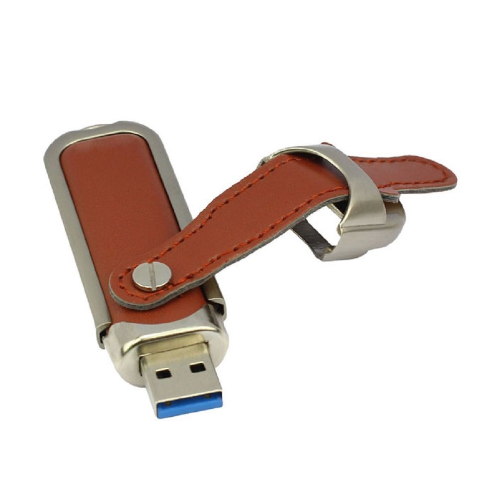 High-end USB 3.0 Flash Pen Drive leather Storage Card Disk 8gb 16GB 32gb 64gb 128gb Pendrive OTG USB Drives Memory Stick