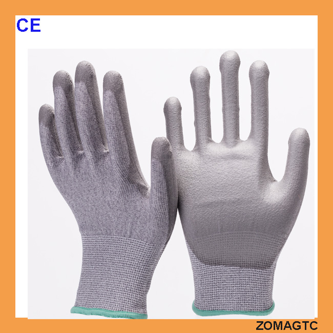 PU Top Fit Grip Coated Industry Cut Resistant Safe Workshop Gloves