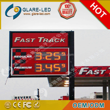 "10"" 12"" 16"" 18"" 24"" green led petrol / fuel / oil price signs gas station 7 segment Display with remote control"