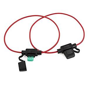 Water & Wood 2 Pcs 32V 30A Vehicle Car Blade Fuse Holder Case w Wire