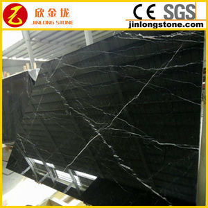 low price Chinese black Marquina marble slabs