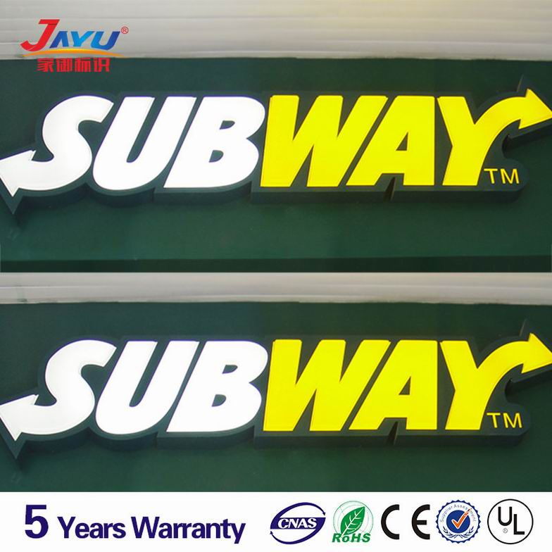 Top quality Subway large led word signs,wholesale led light signs suppliers