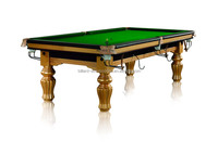 8 FT Classic Style Solid Wood Billiards Pool Table With Slate