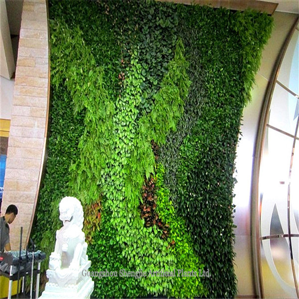 gzsj high quality fake plants wall for home/garden/hotel/resturant Quality Fake Plants