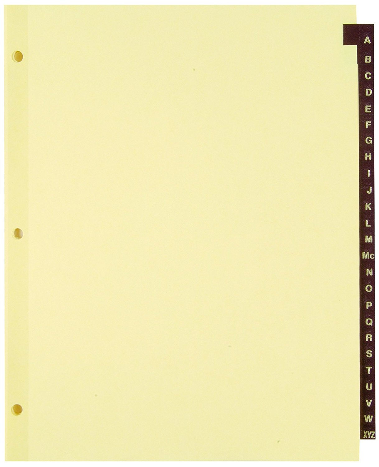 Staples Red Leather Alphabetical Tab Dividers, A-Z (13498)
