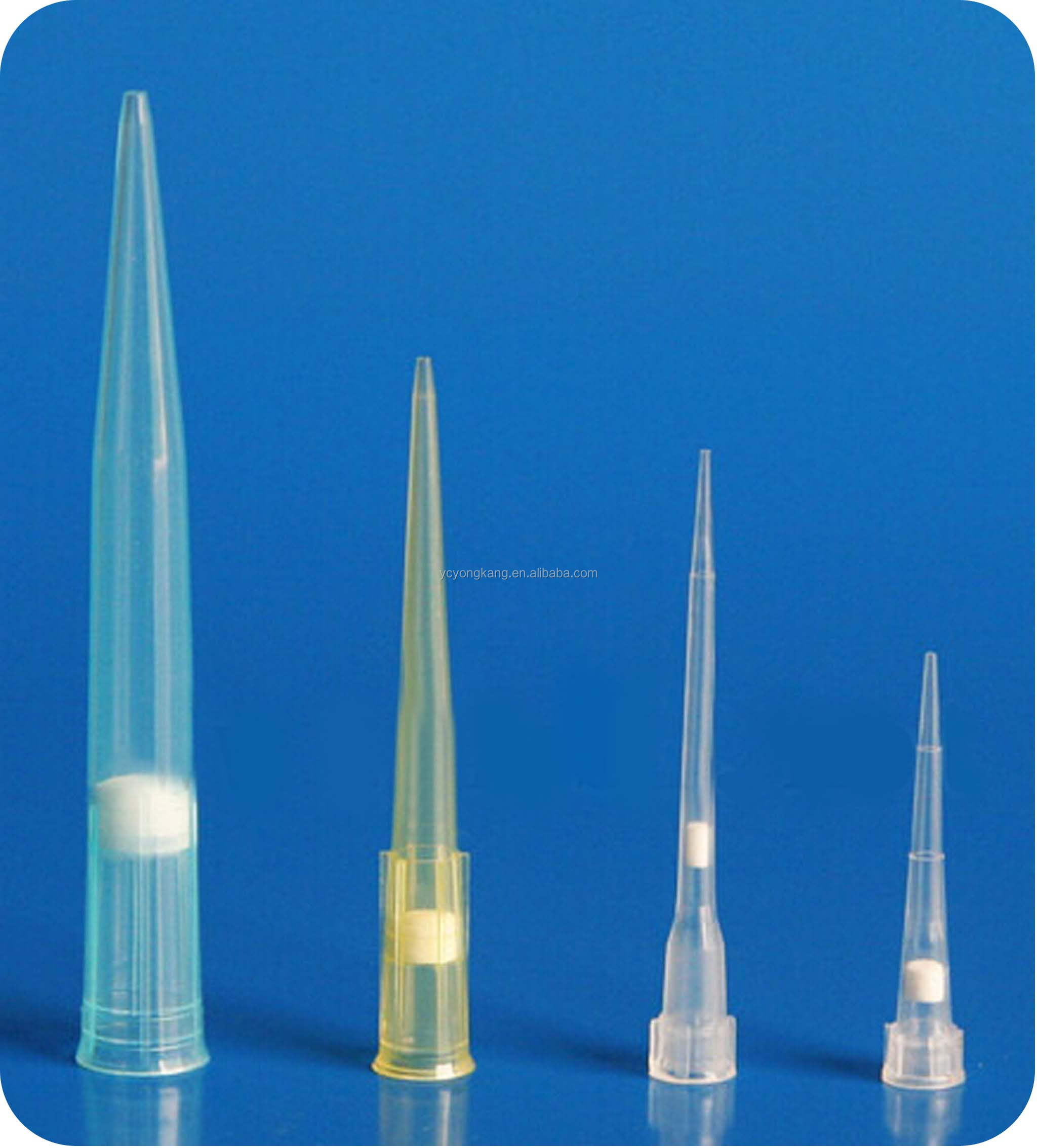 yellow color pipette tips with filter manufacture