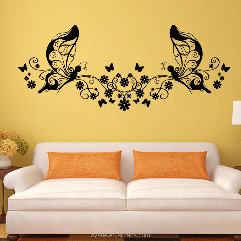 3d Butterfly Wall Stickers Wooden Art Home Decorations Vinyl Customs ...