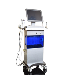 The portable Facial Skin Machine SPA Microdermabrasion+Vibration+Vacuum+Photon Dynamic +Ultrasound Cavitation SPA20
