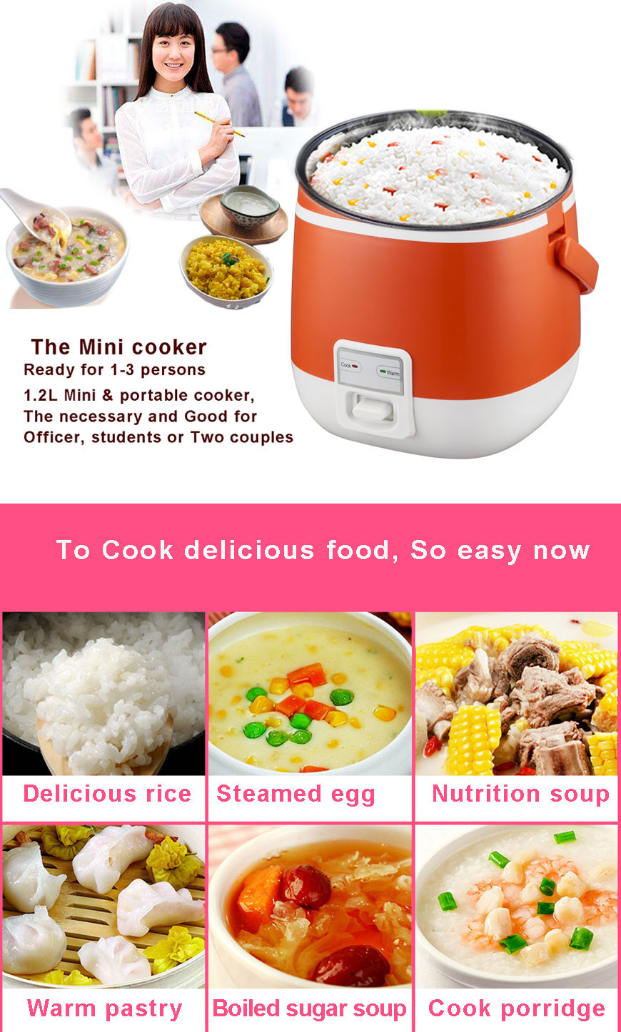 Mini rice cooker household electrical appliances business gifts promotional gifts 2018