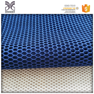 Wholesale polyester 3d spacer air flow mesh cloth material fabric textile for garment