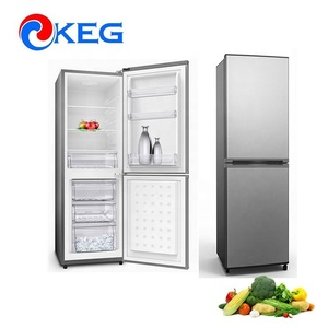 270L Home Used Defrost Double Door Combi Fridge Freezer with Double Circulation Air Duct