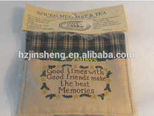hot sale promotional cheap korean souvenir tea mat whole sale