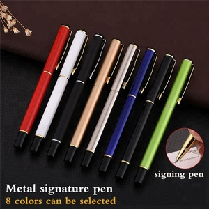 8 Colors can be selected metal signature pen liquidly free ink roller pen with custom logo
