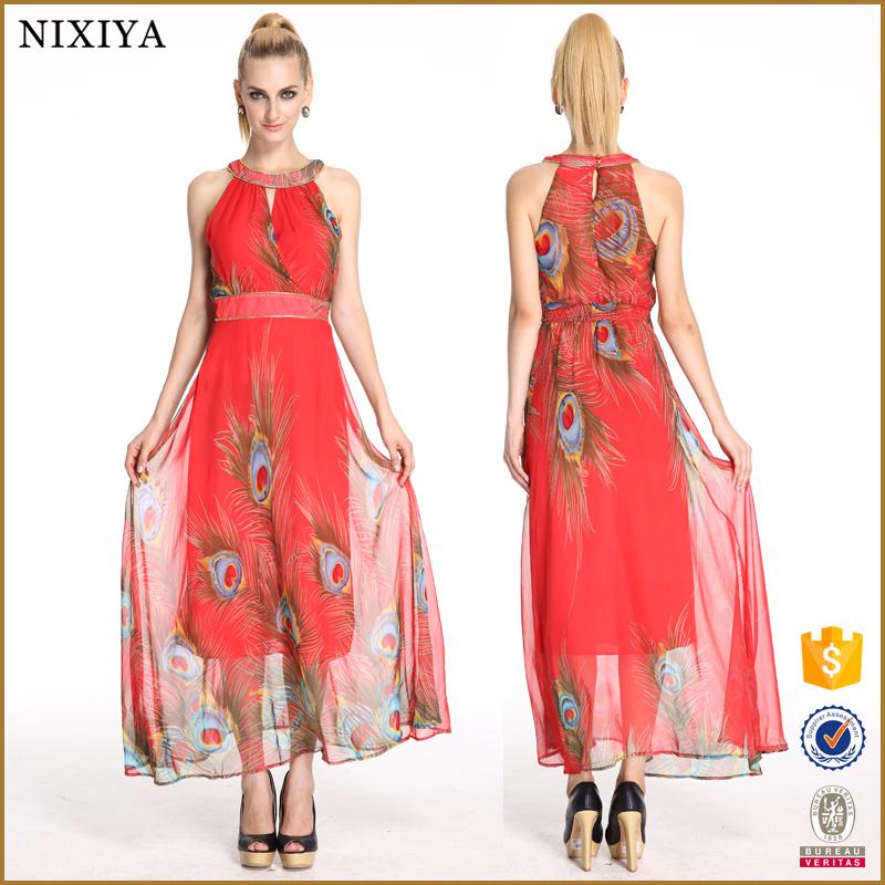 041249398493f 2018 الكورية طويل نموذج المرأة الأحمر اللباس عارضة فساتين النساء الشيفون  اللباس