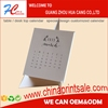 high quality with cheap price Chinese unique innovative yearly/monthly table desk top calendar 2017 -2016
