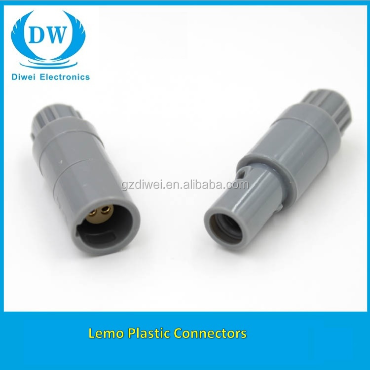 Lemos plastic medical male female connector 3pin PKG for monitor device