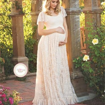 Amazon Top Selling Maternity Lace Dress 2018 Women Plus Size Maxi Long  Wedding Dress For Pregnant - Buy Maternity Dresses For Office,Lace Top Long  ...