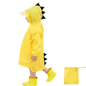 Raincoat for Kids Rain Jacket Age 1-10 Dinosaur Shaped Lightweight Rainwear Rain Slicker for Boy for Girl
