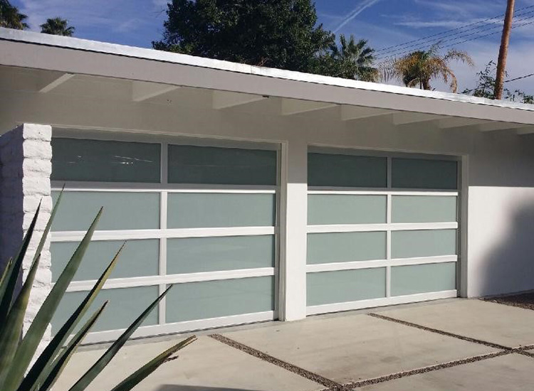 Commerical Frosted Glass Sectional Garage Doors Aluminum