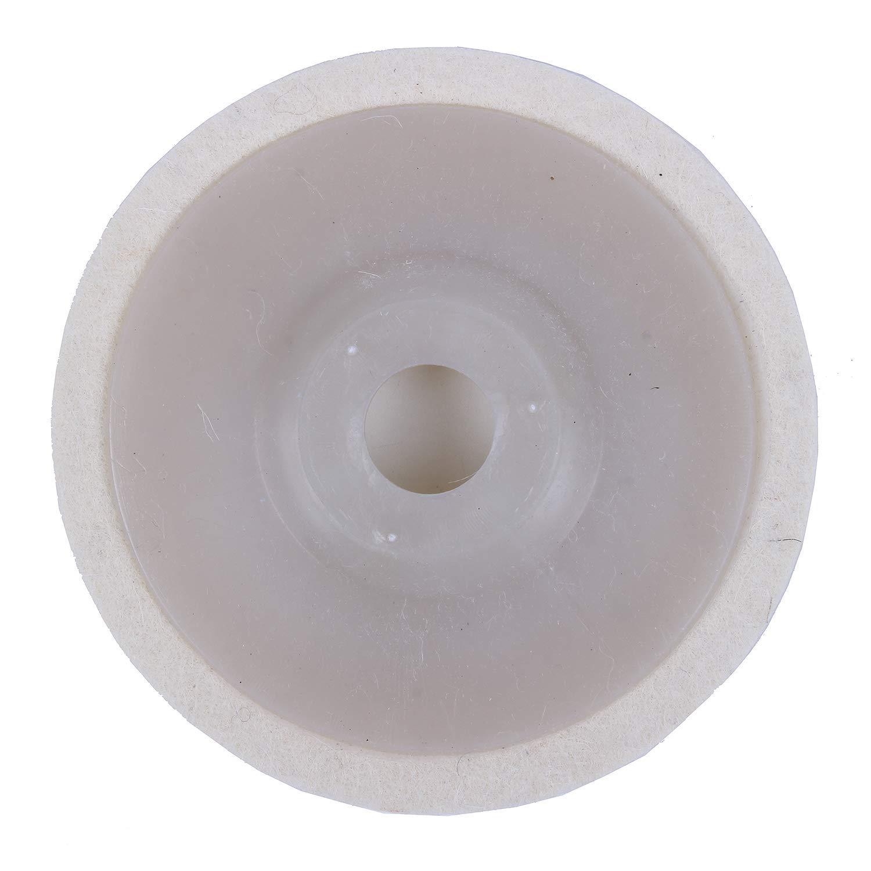 TOOGOO(R) 1 pieces 4 inch Round Polishing wheel wool felt polishers pads NEW