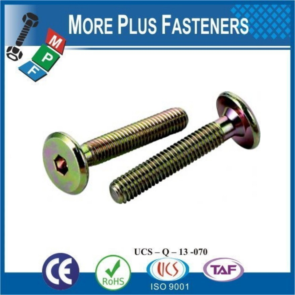 Made in Taiwan Cylinder Fillister Flat Head Hex Socket Pozi Furniture Joint Connector Bolt