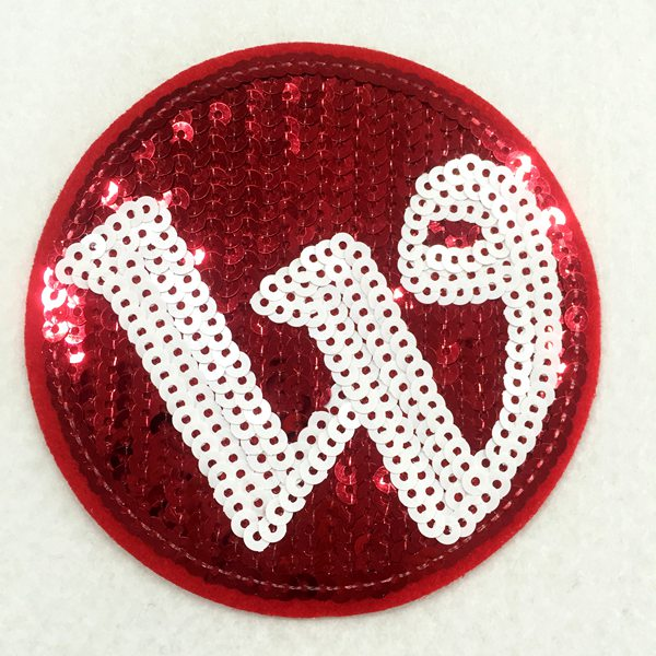 Fabricante Personalizado W Sequin Patches Iron on manchas de design Online
