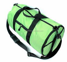 Green Durable Cheap Wholesale Polyester Sports Custom Men Duffle Bag With Shoe Compartment
