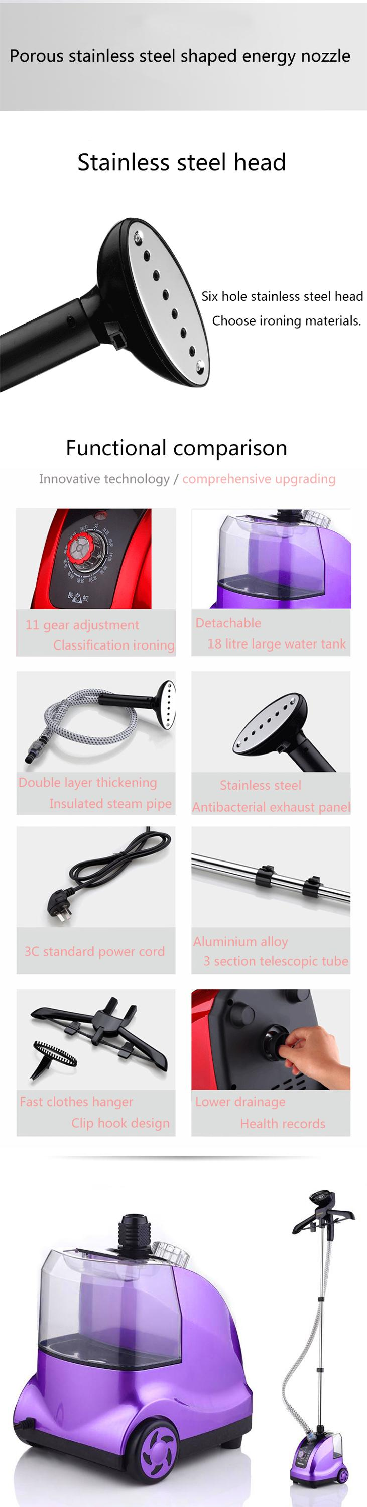 1800W 1.4L Easy Use Popular Streamer Hanging Coat Home Vertical Electric Travel Garment Steamer Iron