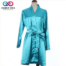 Wholesale Personalized Monogrammed Silk Satin Bathrobes For Women