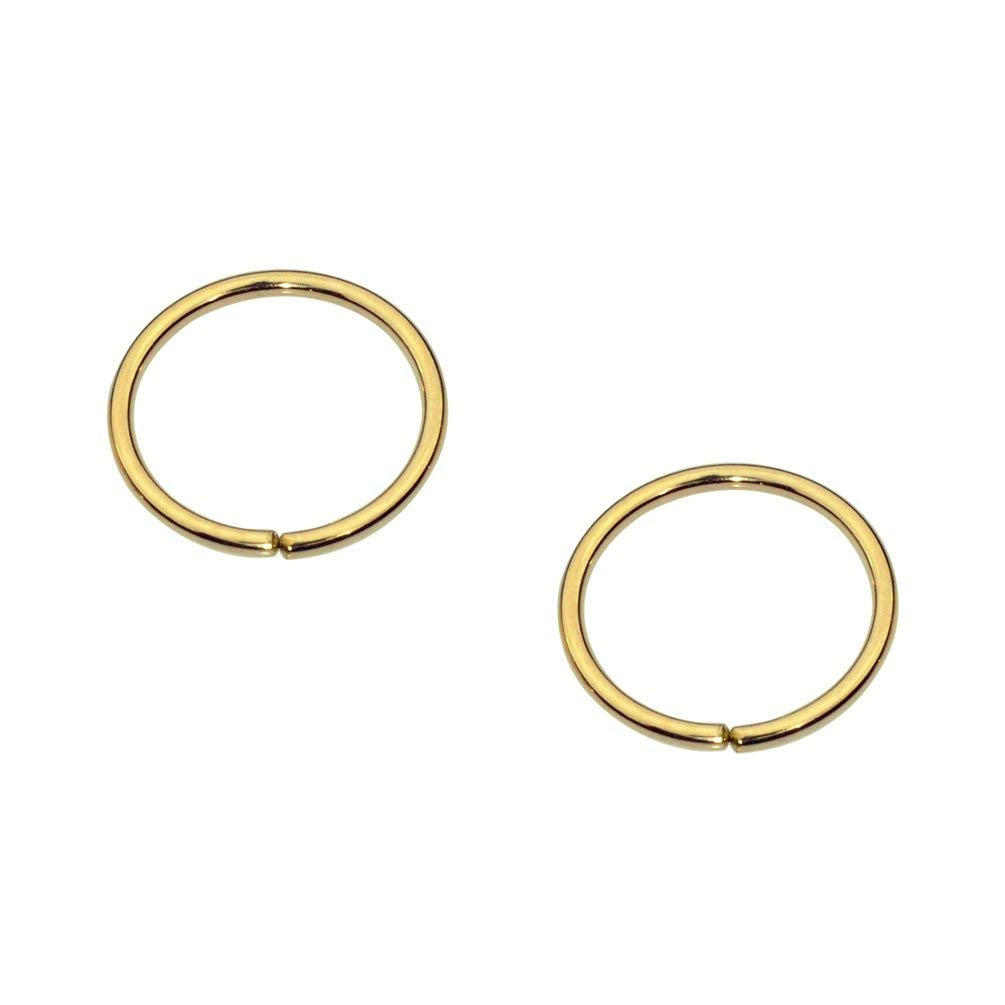 b9286a0ff Get Quotations · Sampson Nose Ring Hoop - One Pair - Tragus Cartilage Helix  Earring - 14K Yellow Gold
