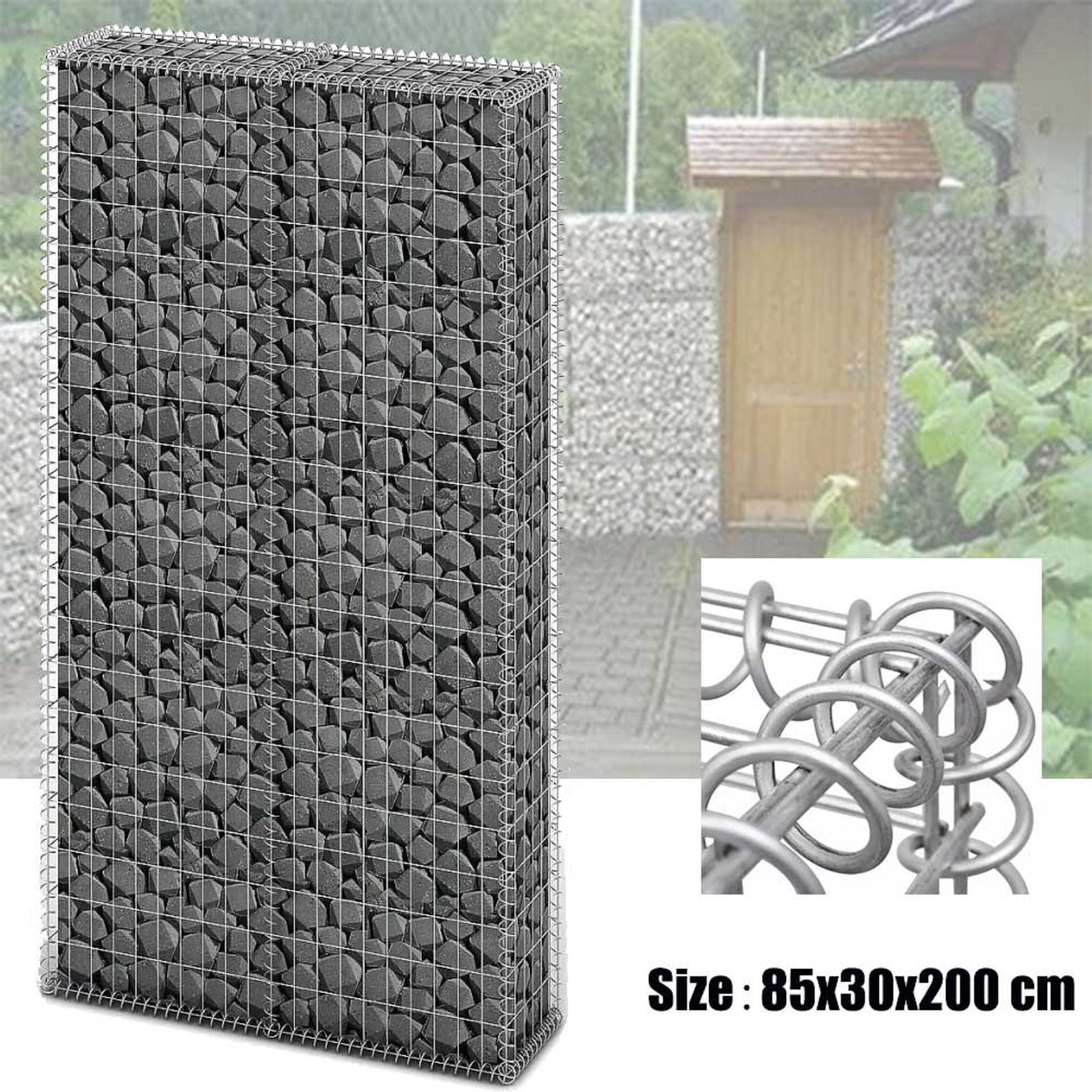 China Supplier Welded Gabion Box Wire Mesh Gabion Stone Basket