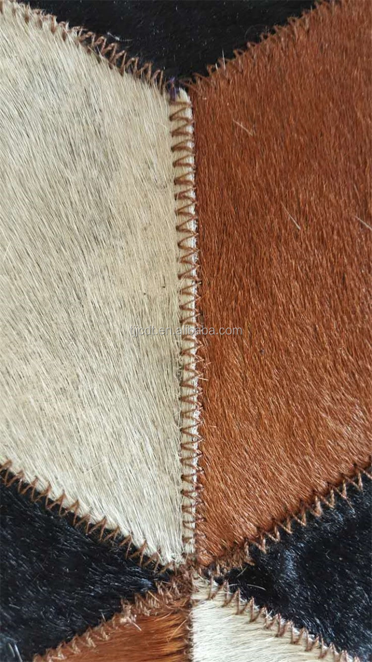 Hot Patchwork Cow Skin Carpet Natural Cowhide Rugs tapis peau de vache