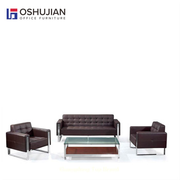 modern office leather sofa with stainless steel legs SJ897, View office  sofa, OSHUJIAN Product Details from Foshan OSHUJIAN Furniture Manufacturing  ...