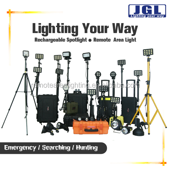 High Power Led Rechargeable Outdoor Portable Site Lighting